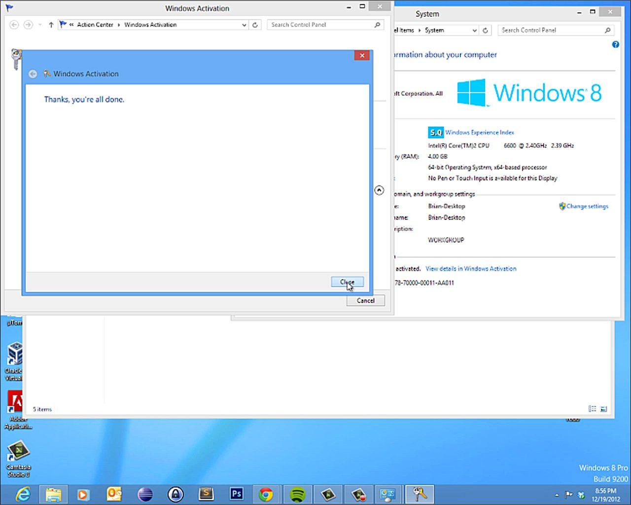 windows 8 pro key list