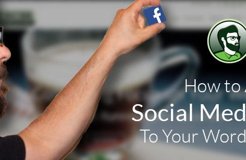 How to Add Social Media Icons to your WordPress Site Featured Image