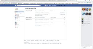 A screenshot of my Facebook privacy settings, configured to allow minimal contact.