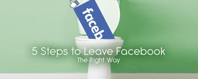 how to leave facebook the right way featured image