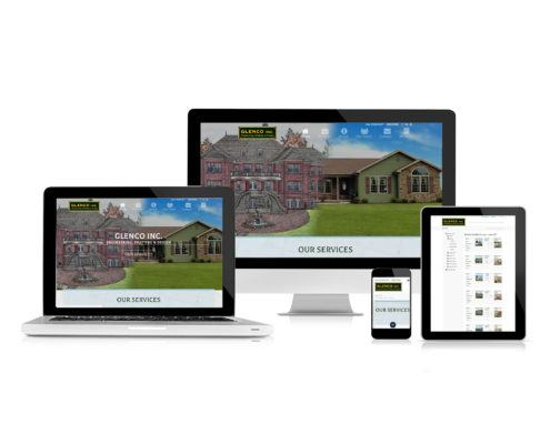 Glenco Inc. Website Redesign on Devices Mockup